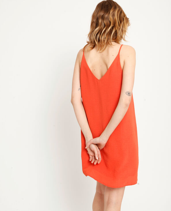 Robe à fines bretelles orange