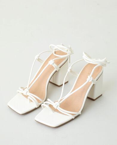 Sandales à talons avec lacets blanc - Pimkie