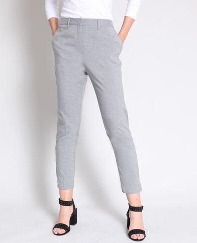 Pantalon cigarette gris chiné 3656a3a75ec6