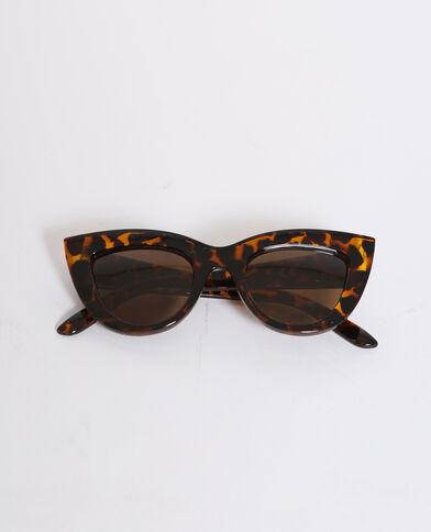 Lunettes de soleil cat eye marron