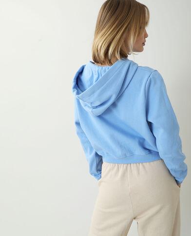 Sweat molleton à capuche bleu