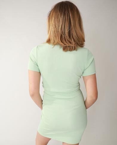 Robe polo côtelée vert d'eau - Pimkie