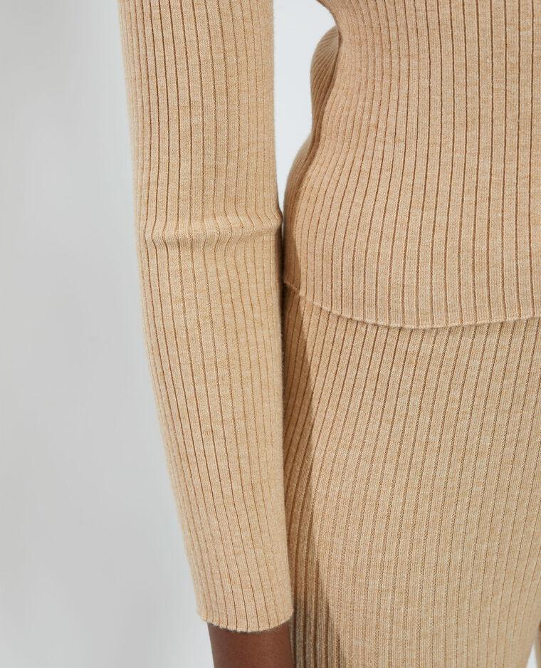 Pull côtelé beige - Pimkie