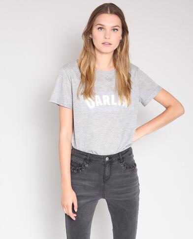 T-shirt à message gris