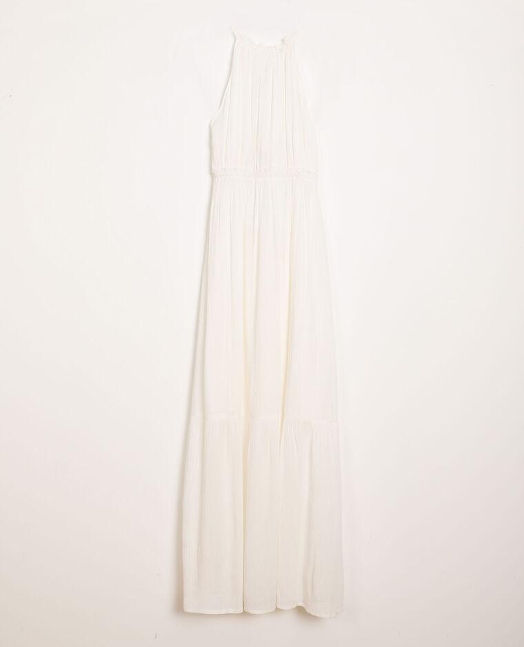 Robe à volants blanc cassé - Pimkie