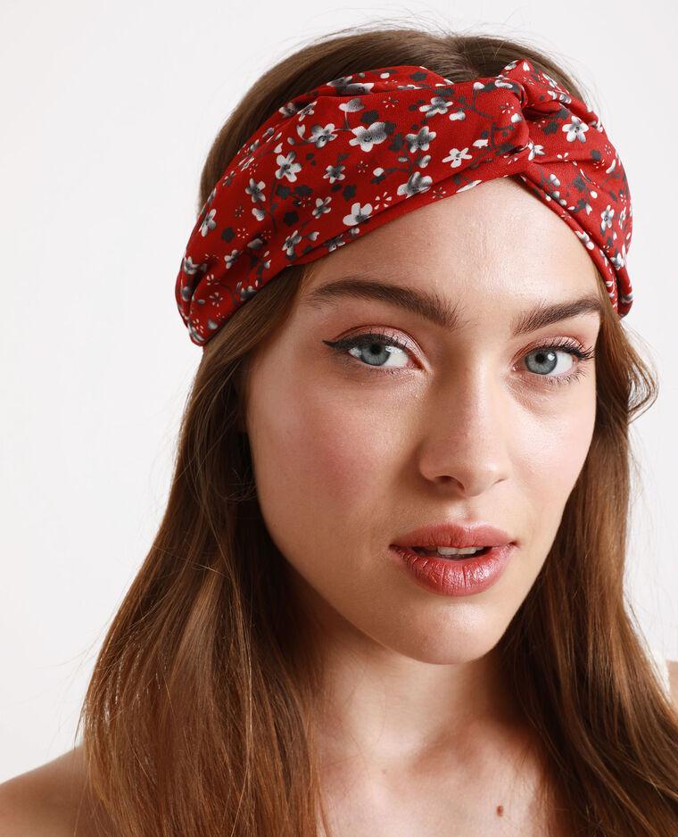 Headband à fleurs rouge