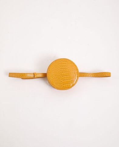 Pochette ronde avec ceinture jaune