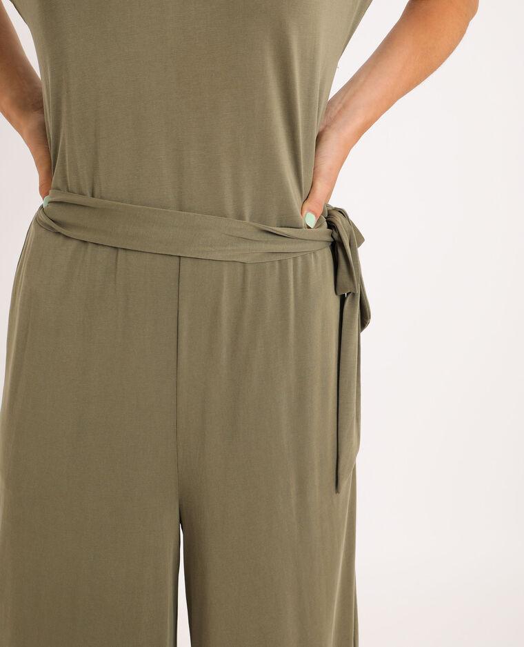 Combi-pantalon ample kaki