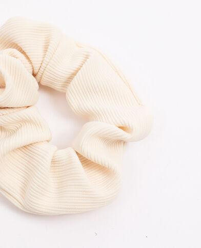 Chouchou texturé beige