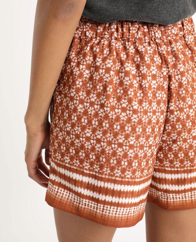 Short tie & dye marron