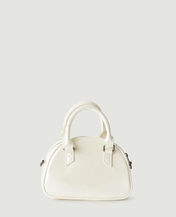 Petit sac vinyle à bandoulière amovible blanc cassé - Pimkie