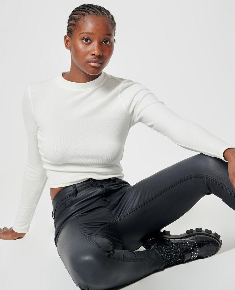 Jean skinny enduit noir - Pimkie