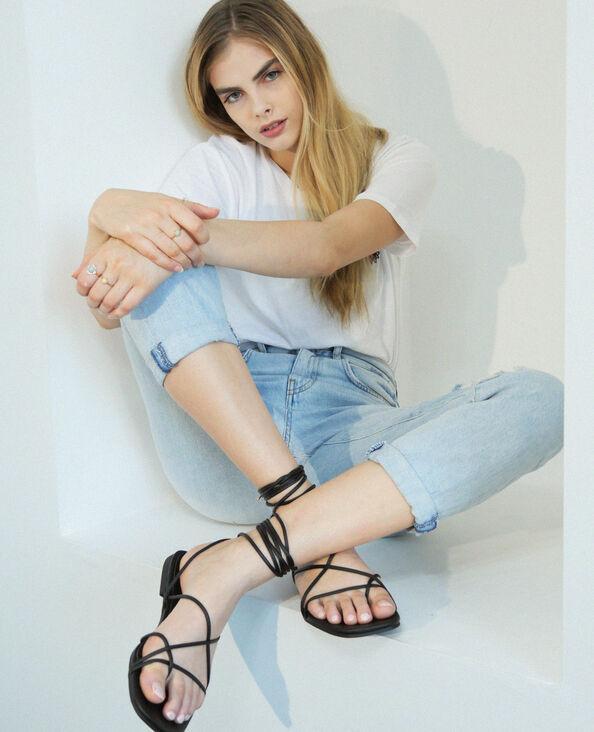 Sandales à lacets noir