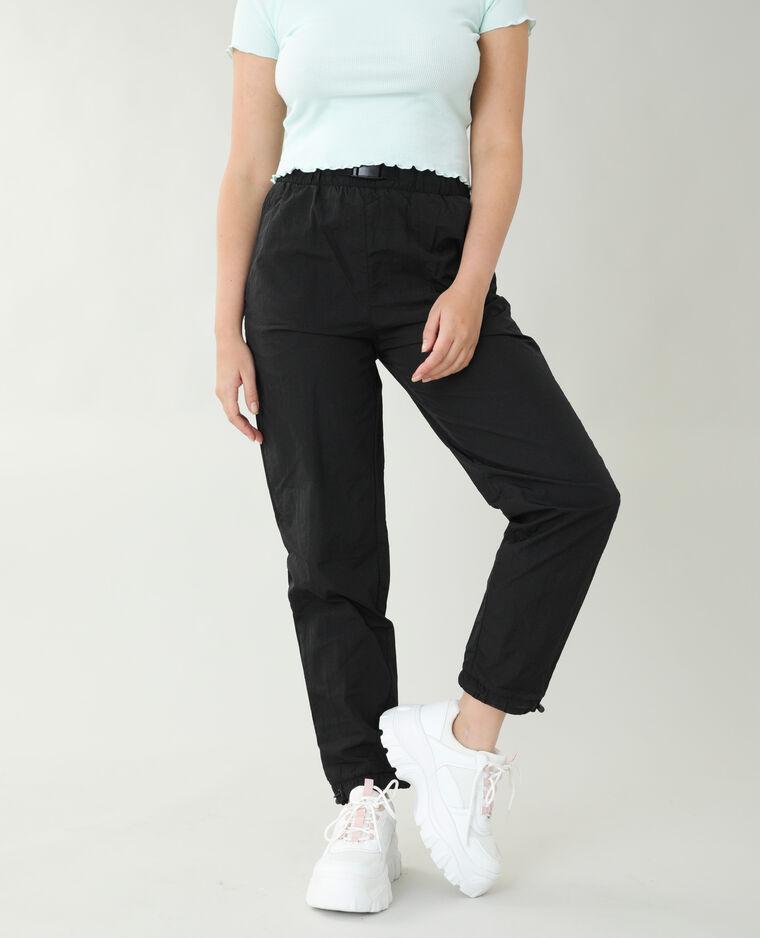 Pantalon coupe-vent noir - Pimkie