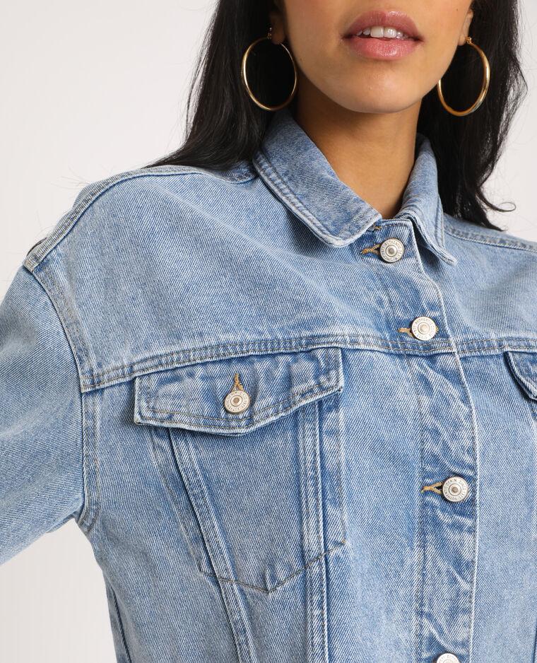Veste en jean courte bleu délavé - Pimkie