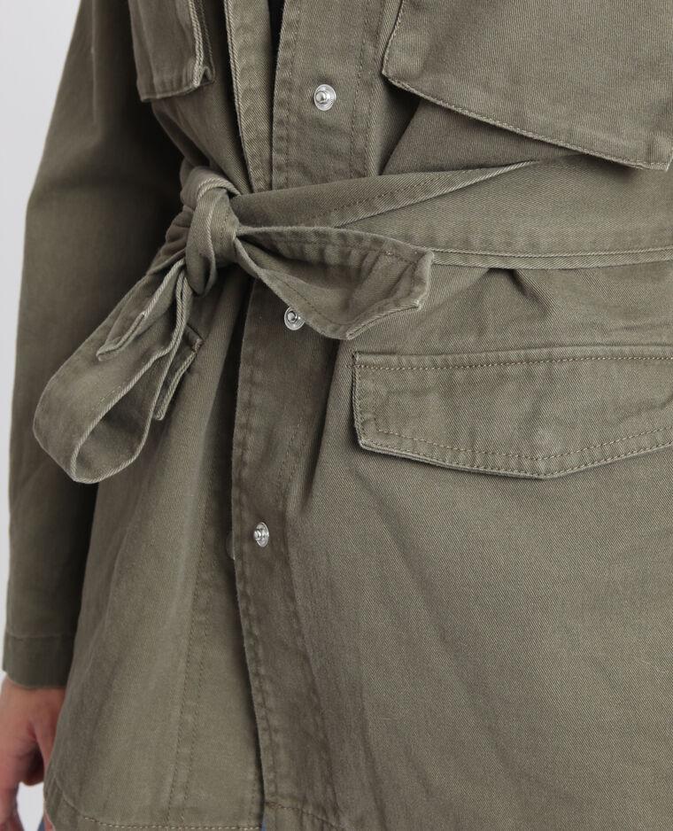 Veste army à ceinture kaki