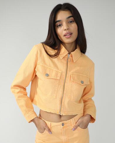 Veste en jean orange - Pimkie