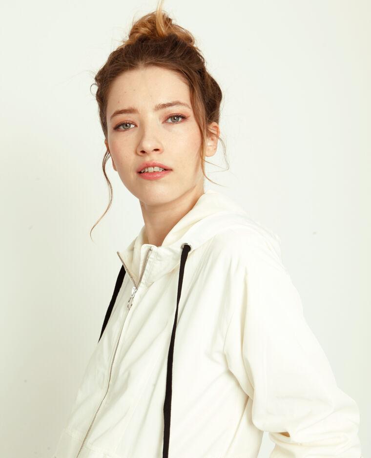 Coupe-vent à capuche blanc
