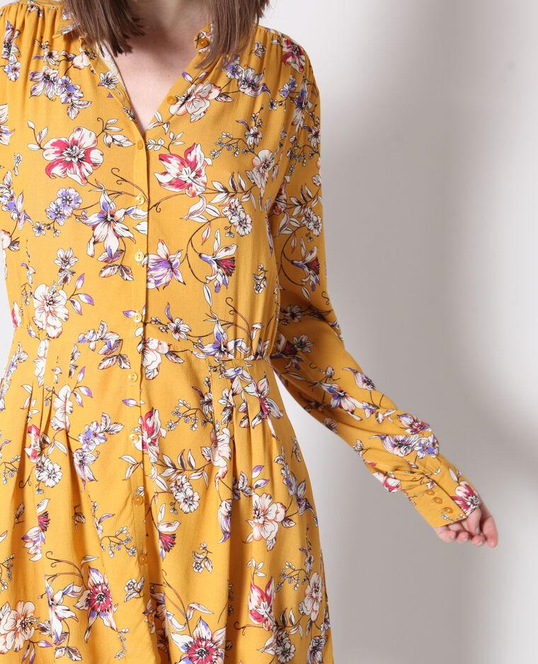 Robe à fleurs jaune