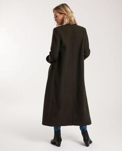 Manteau long avec laine kaki