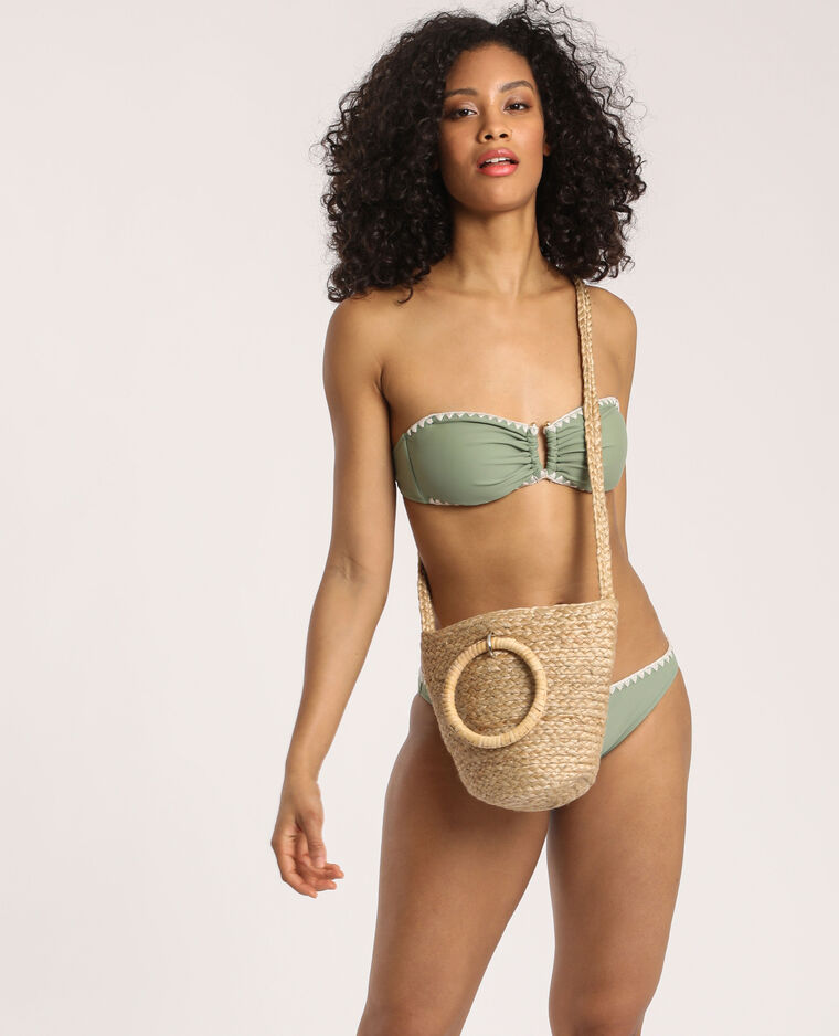 Haut de bikini bandeau vert clair - Pimkie