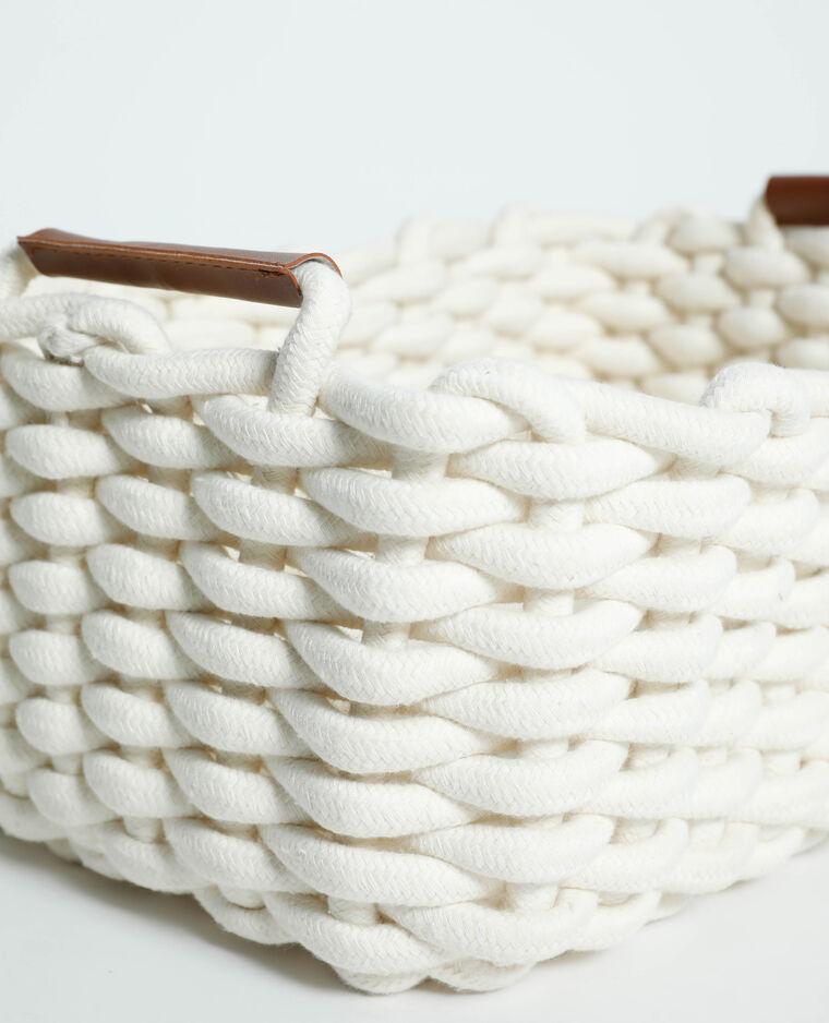 Grande box de rangement tressée blanc - Pimkie