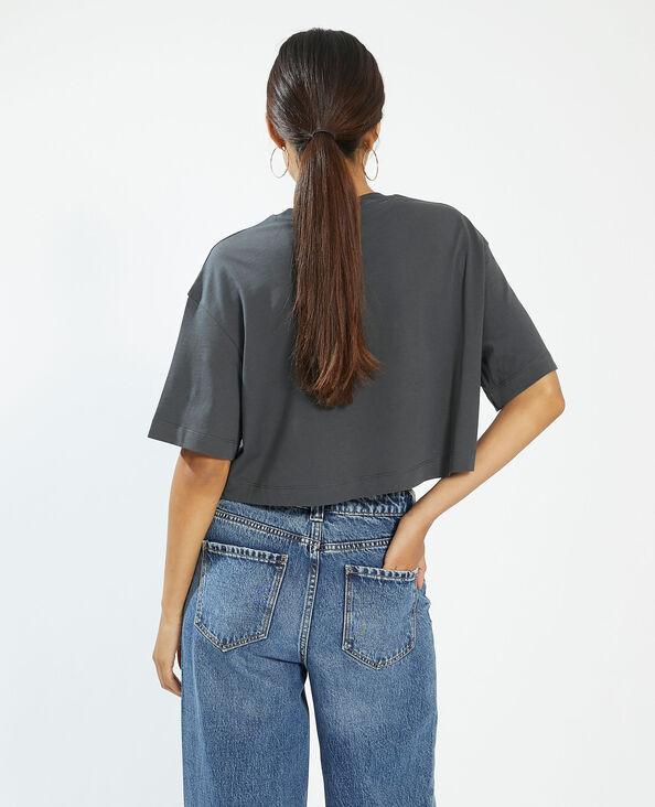 T-shirt cropped gris - Pimkie