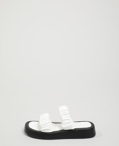 Mules plissées blanc - Pimkie