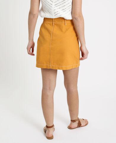 Jupe en jean jaune