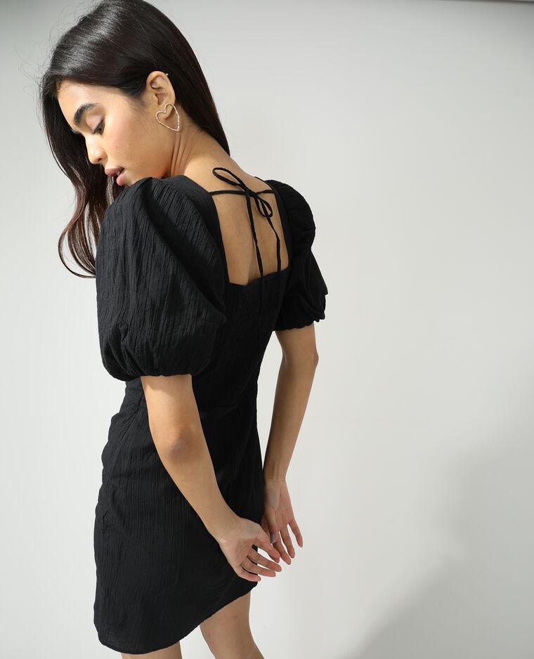 Robe texturée noir - Pimkie