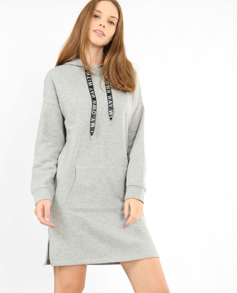 Robe sweat gris chiné