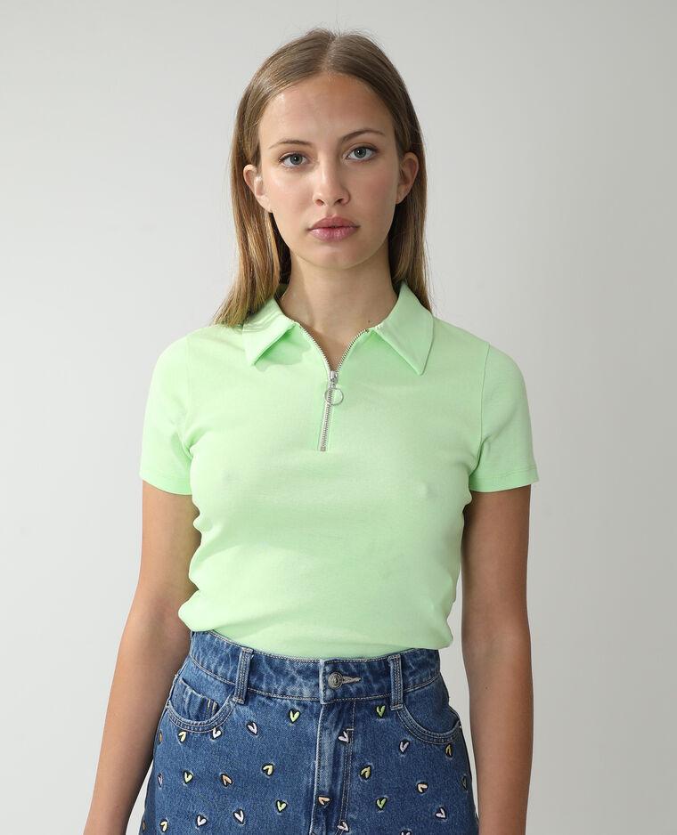 Polo zippé vert - Pimkie