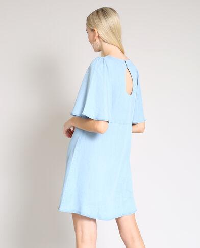 Robe à manches courtes bleu clair