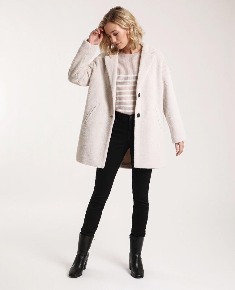 Manteau en fausse fourrure blanc