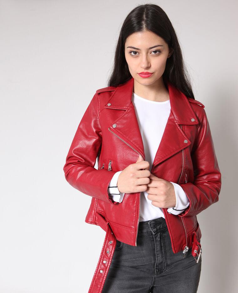341d3cc514c8 Veste perfecto faux cuir rouge - 323285342A02