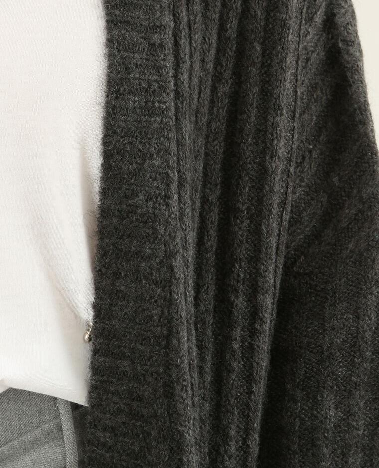Gilet en maille côtelée gris