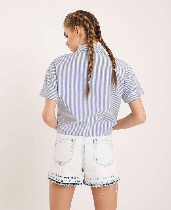 Chemise rayée blanc cassé