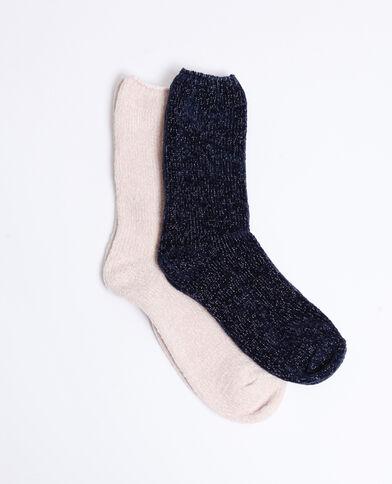 4e172cff7fe Lot de 2 paires de chaussettes douces rose nude