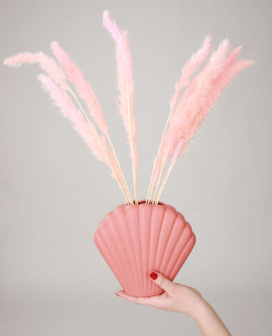 Vase coquillage moyen rose pâle - Pimkie