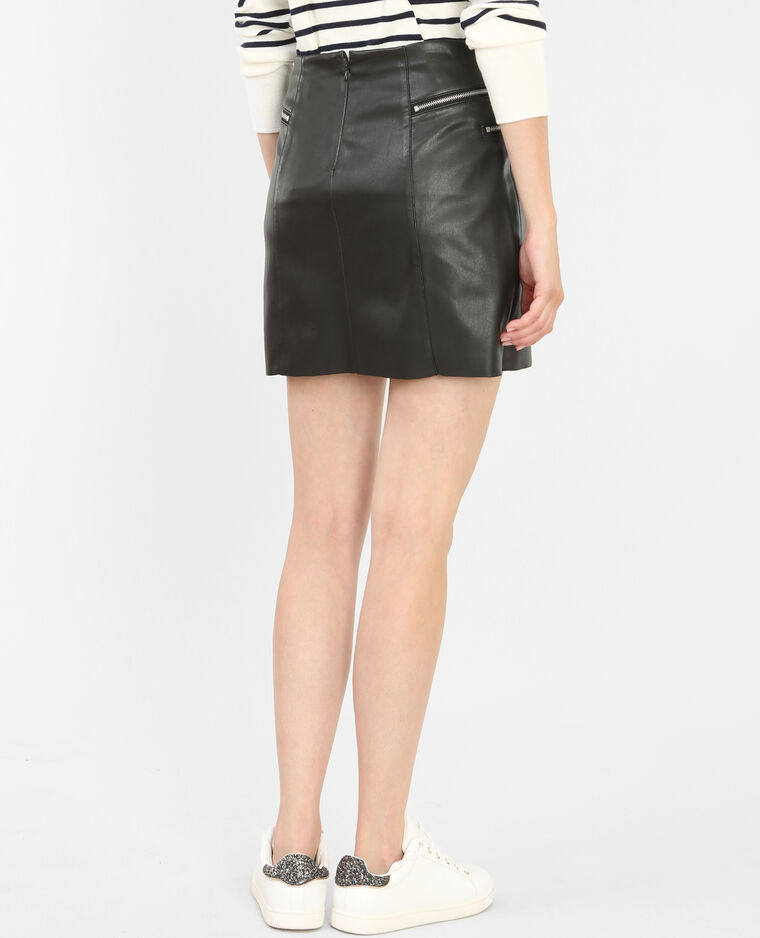 jupe simili cuir zipp e noir 690228899a08 pimkie. Black Bedroom Furniture Sets. Home Design Ideas