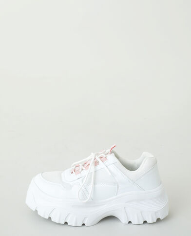 Baskets dad shoes blanc cassé