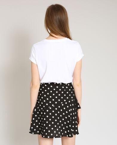T-shirt brodé blanc - Pimkie