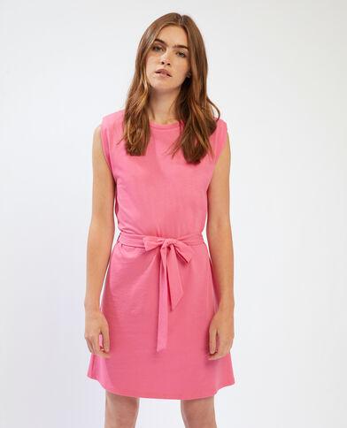 Robe t-shirt à épaulettes rose - Pimkie