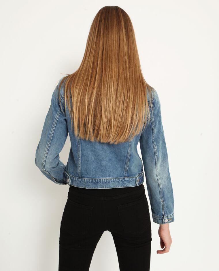 Veste en jean bleu délavé - Pimkie