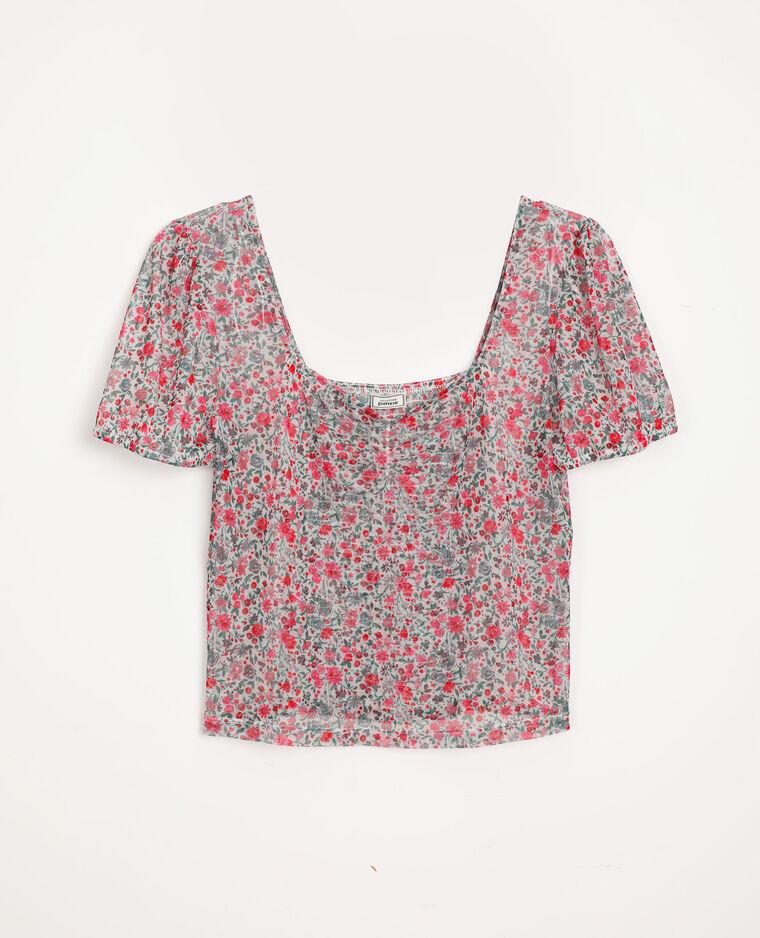 T-shirt fleuri blanc cassé - Pimkie