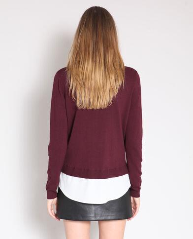 Pull chemise bordeaux 6658d934e688