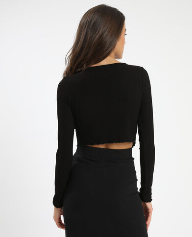 Cropped top noir - Pimkie