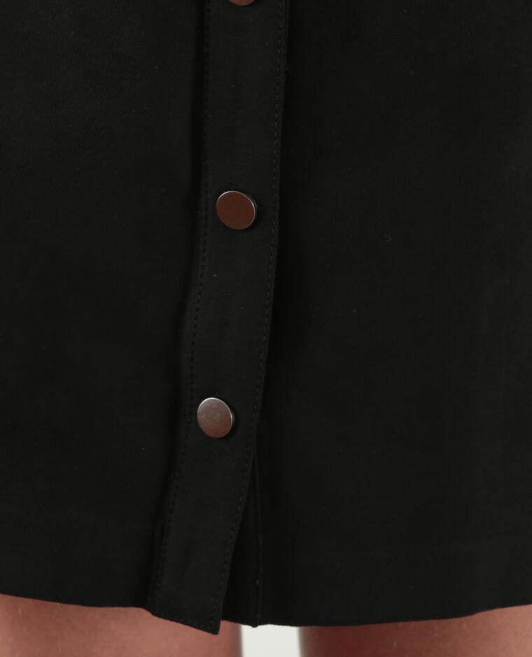 Jupe suédine boutonnée noir