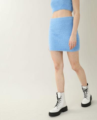 Jupe moumoute bleu - Pimkie