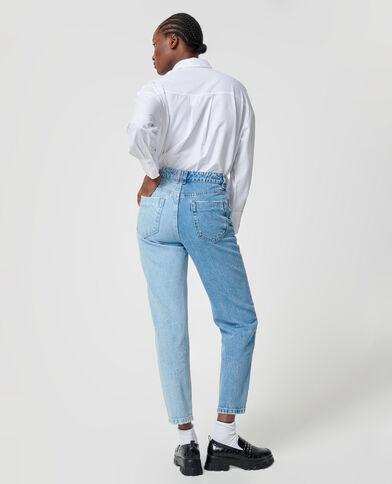 Jean bicolore bleu denim - Pimkie